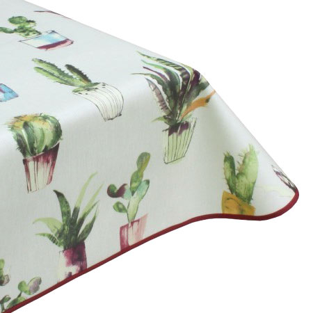 Catus jewel oilcloth tablecloth