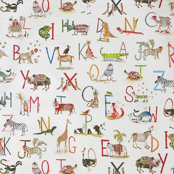 Animal Alphabet Oilcloth Tablecloth