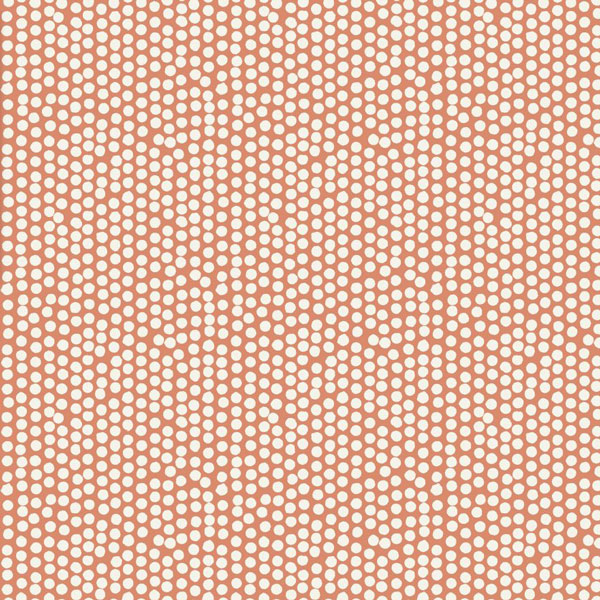 Spotty Orange Oilcloth Tablecloth