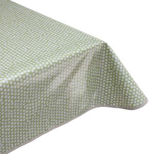 Spotty Sage Green Oilcloth Tablecloth
