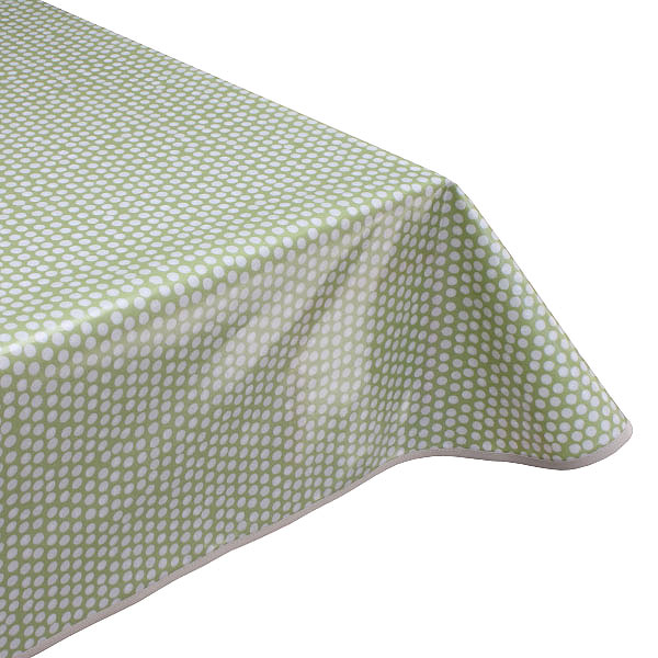 Spotty Sage Oilcloth tablecloth