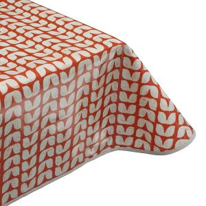 Tulip Burnt Oilcloth Tablecloth