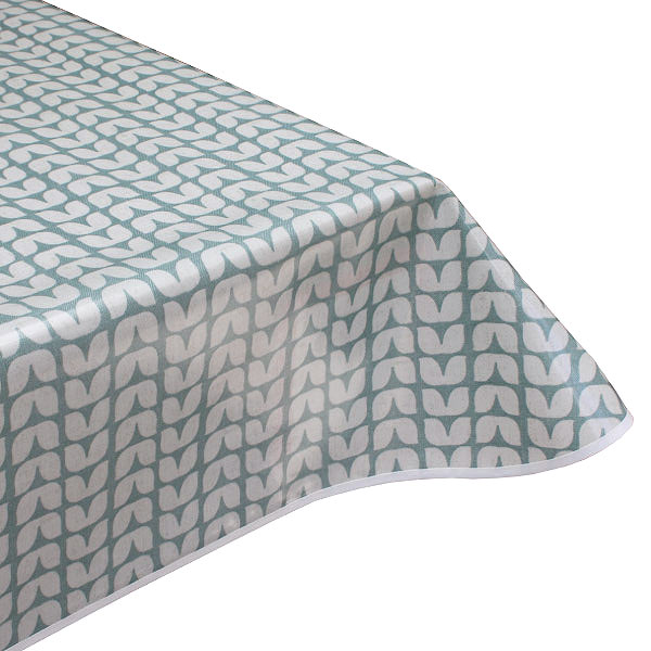 Tulip Sage Oilcloth Tablecloth