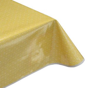 Dolly Ochre Oilcloth Tablecloth