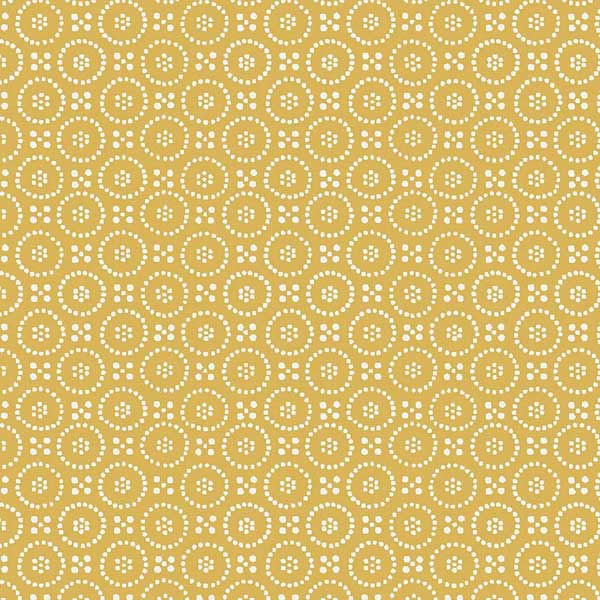 Dolly Ochre oilcloth