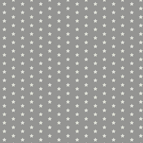 Twinkle Stars Grey Oilcloth flat