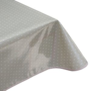 Twinkle Stars Taupe Oilcloth Tablecloth