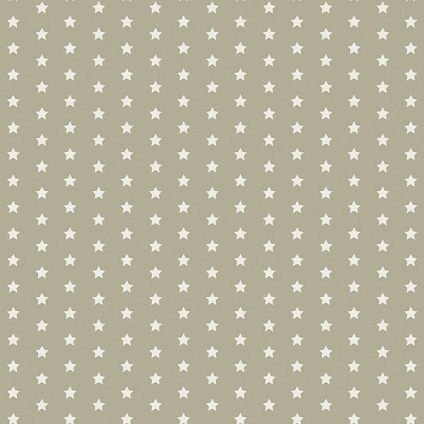 Twinkle Stars taupe oilcloth flat