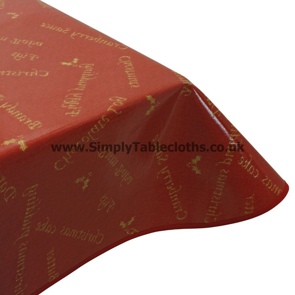 Christmas Wine Oilcloth Tablecloth