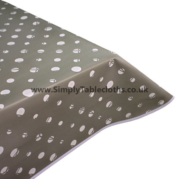 Grey Candy Vinyl Tablecloth