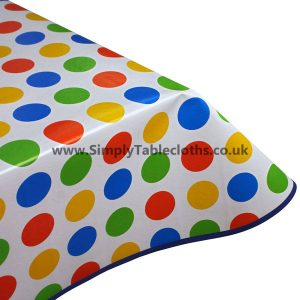 Primary Spots Vinyl Tablecloth