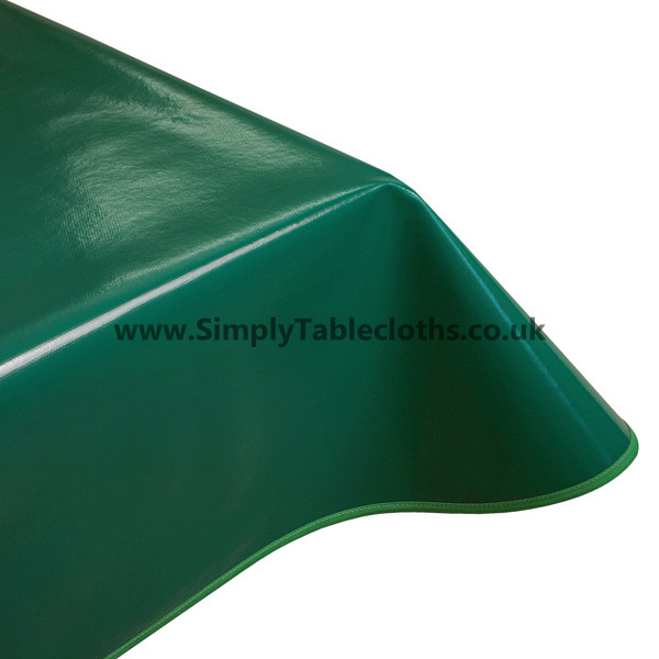 Plain Green Vinyl Tablecloth