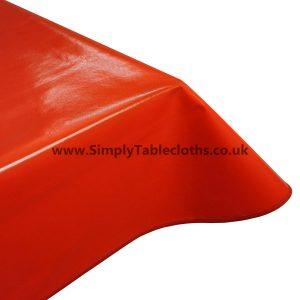 Plain Red Vinyl Tablecloth