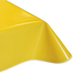 Plain Yellow Vinyl Tablecloth