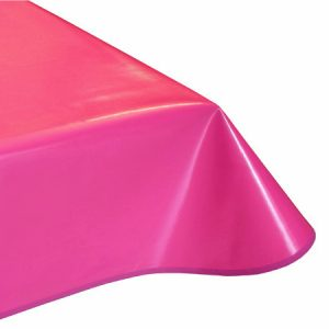 Plain Fuchsia Vinyl Tablecloth
