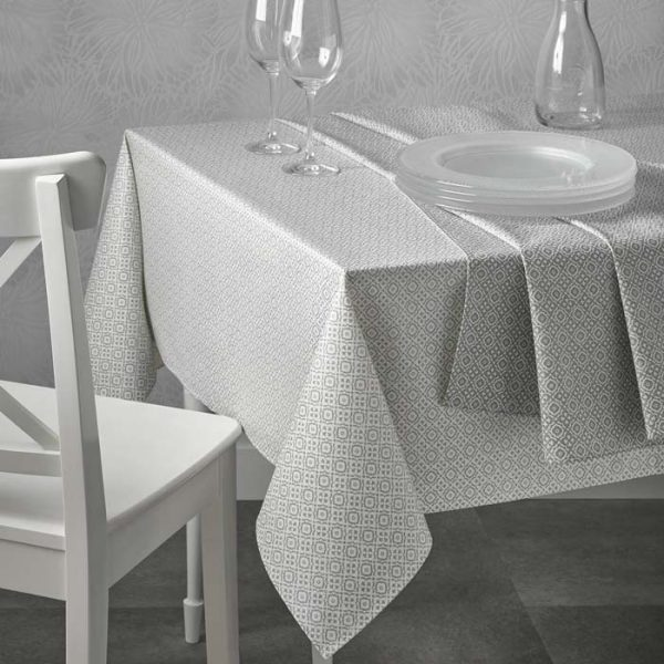 Patience White Teflon Tablecloth