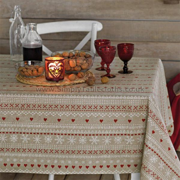 Scandic Red Teflon Tablecloth