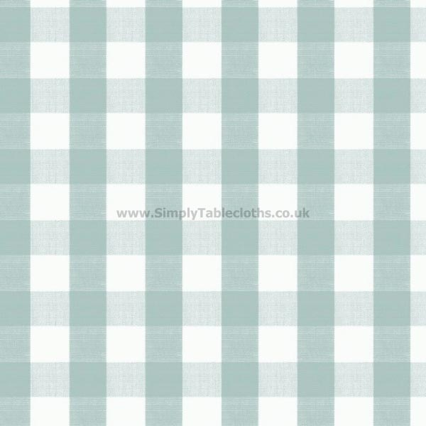 Seafoam Gingham Oilcloth Tablecloth