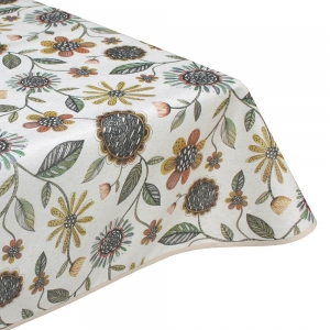 Aster teflon wipe clean tablecloth