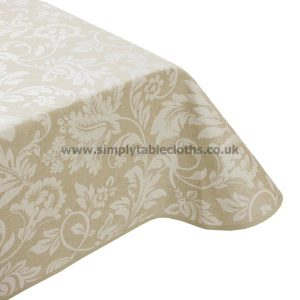 Beige Opera Teflon Coated Tablecloth