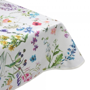 Blooming delight teflon wipe clean tablecloth
