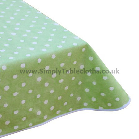 Comet Green Dots Teflon Tablecloth