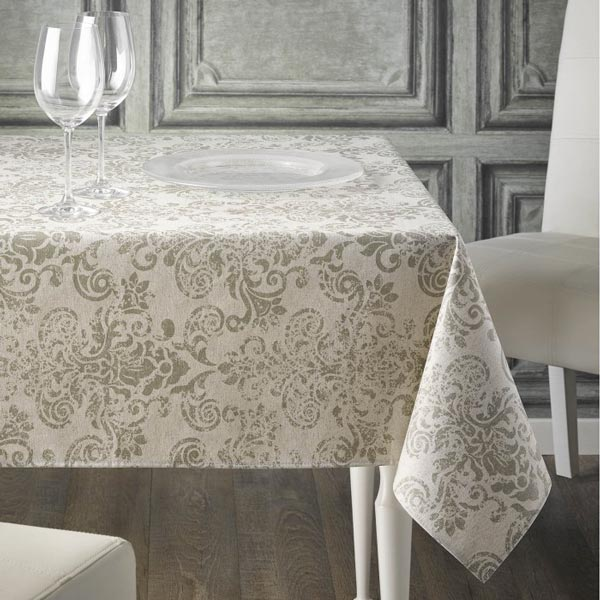 Imperial Olive Teflon Tablecloth