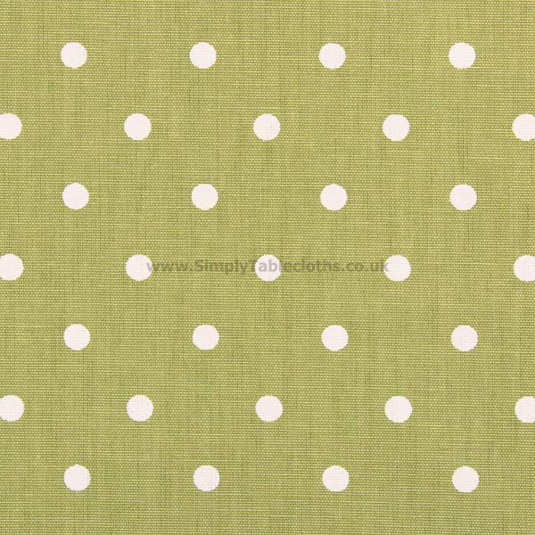 Polka Dot Eucalyptus Green Oilcloth Tablecloth