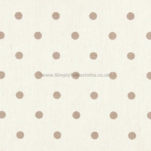 Polka Dot Fudge Oilcloth Tablecloth
