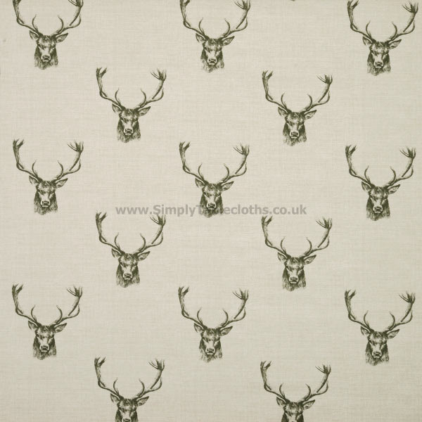 Stag Head Oilcloth Tablecloth