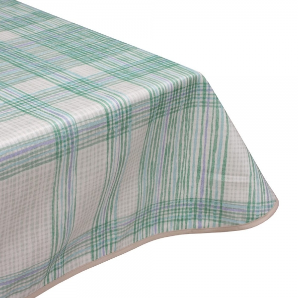 wiggly green teflon wipe clean tablecloth
